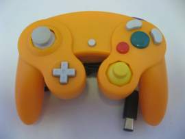 Wired Controller for Wii & GameCube - Orange (New)