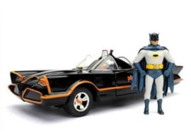 1966 Batmobile (Classic TV Series) with Diecast Batman Figure 1:24 (New)
