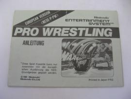 Pro Wrestling - Black Box - European Version *Manual* (FRG)