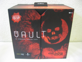 XBOX 360 Slim - 3D Armored Gaming Case 'Gears of War' Vault (New)