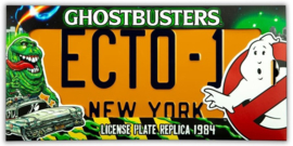 Ghostbusters - License Plate Replica 1984 (New)