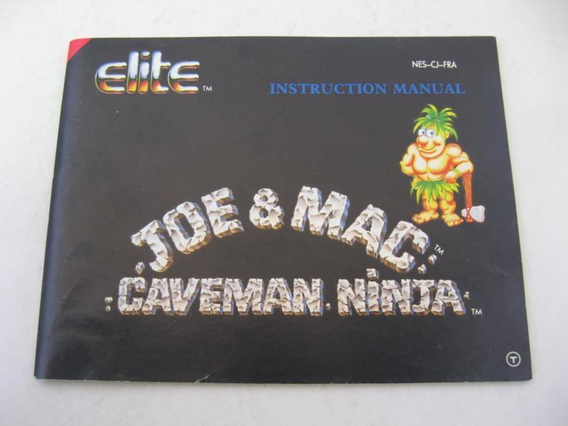 Joe & Mac Caveman Ninja *Manual* (FRA)