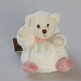 Verkleed knuffelbeertje Ziggy Kanini Wit/Pastel roze