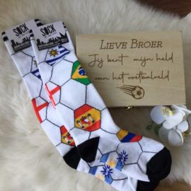 Geschenkbox Twinning socks Voetbal