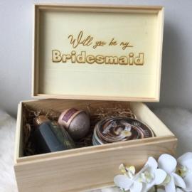 Geschenkset Bridesmaid verzorgingsproducten Chocolate