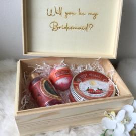 Geschenkset Bridesmaid Verzorgingsproducten Aardbei