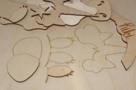 Kiki Handgeschilderde kist met schuifdeksel