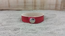 Leren Armband, Kleur Rood