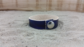 Leren Armband, Kleur Blauw