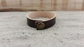 Leren Armband, Kleur Chocolade
