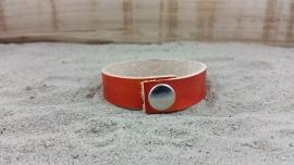 Leren Armband, Kleur Oranje
