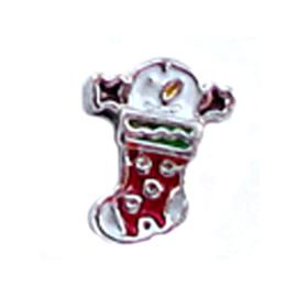 charm kerst sok kado, charm voor in het medaillon