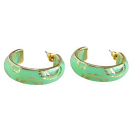 Zomer oorbellen groen