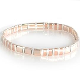 Ibiza boho armband peach & silver