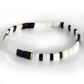 Ibiza boho armband black & white