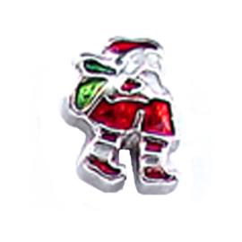 charm kerstman rood groen, charm voor in het medaillon