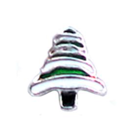 charm kerstboom groen, charm voor in het medaillon
