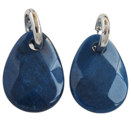 luxe Stenen oorbellen blauw