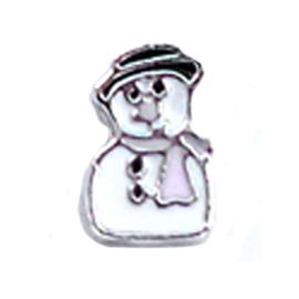 charm kerst sneeuwman, charm voor in het medaillon