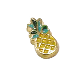 ananas, goudkleurige charm voor in het medaillon