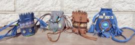 Festival ketting met mini tasje, Ibiza-Boho-indian style
