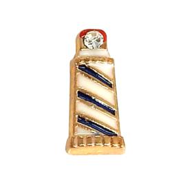 vuurtoren, goudkleurige charm voor in het medaillon