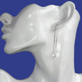 zilveren Klavertje 4 oorbellen