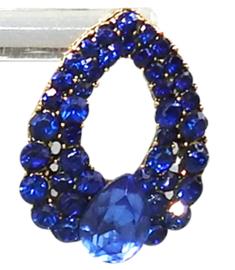 fashion oorbellen, blauw