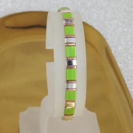 Boho tila armband light green & silver