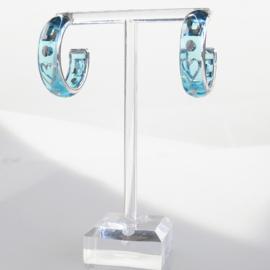Zomer oorbellen blauw