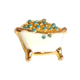 bad, goudkleurige charm voor in het medaillon