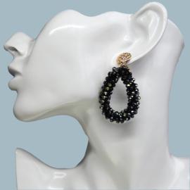 party drops oorbellen Black
