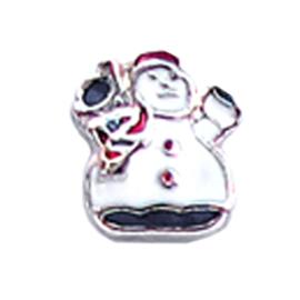 charm kerst sneeuwpop, charm voor in het medaillon