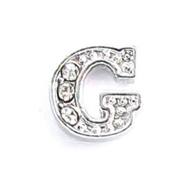 letter G, charm voor in het medaillon