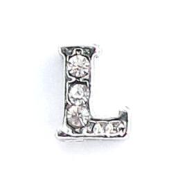 letter L, charm voor in het medaillon