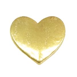 hart, goudkleurige charm voor in het medaillon