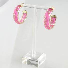 Zomer oorbellen roze