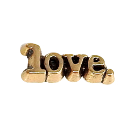 Love (letters) , goudkleurige charm voor in het medaillon