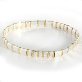 Ibiza boho armband silver & gold