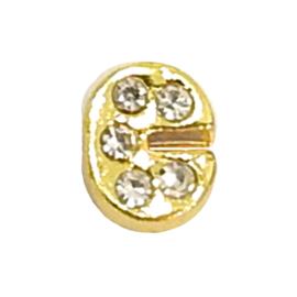 letter C goudkleur, charm voor in het medaillon