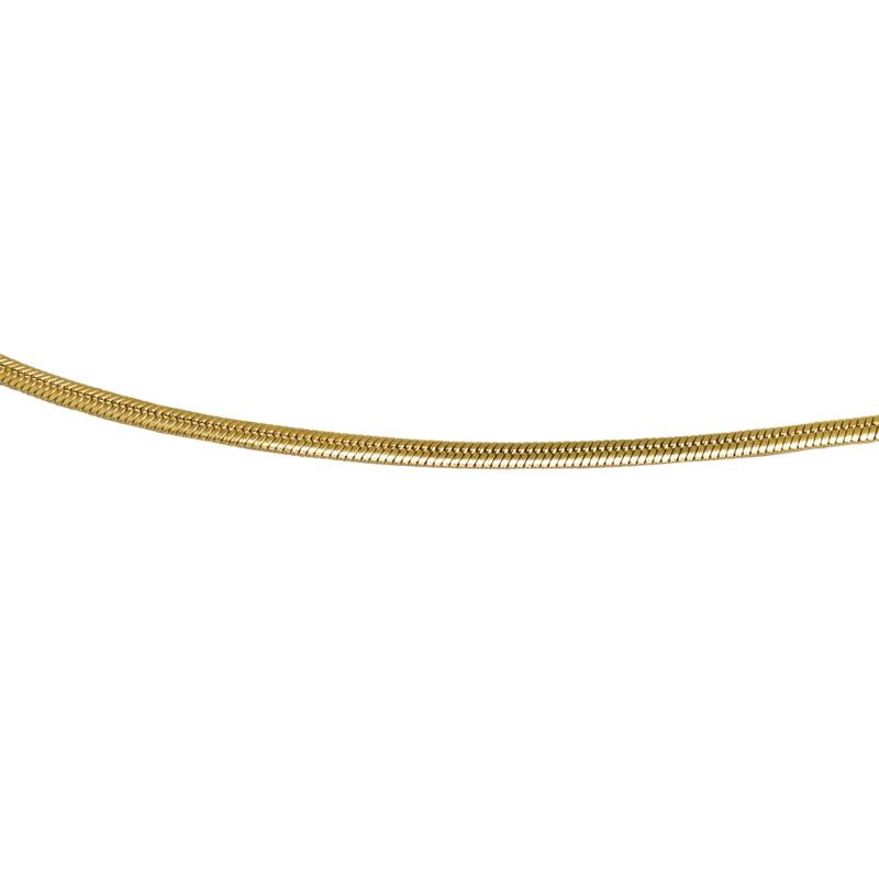 goudkleurige platte slangenketting, 50 cm