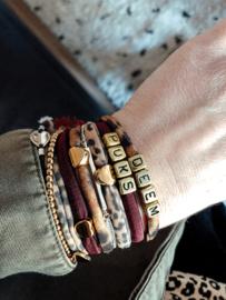 Teddie Puks bracelet met naam