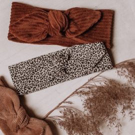 Haarband Leopard sand small