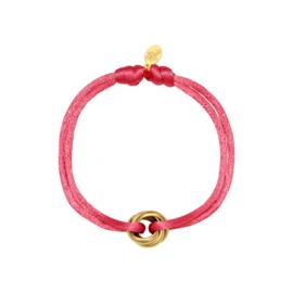 Satin knot pink bracelet