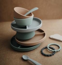 Silicone bowl met zuignap natural