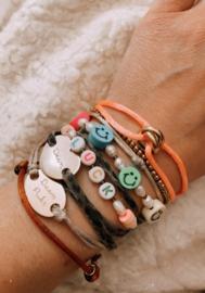 Satin knot purple bracelet