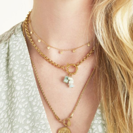 Floating coins necklace