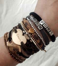 Teddie Puks bracelet met naam zilver