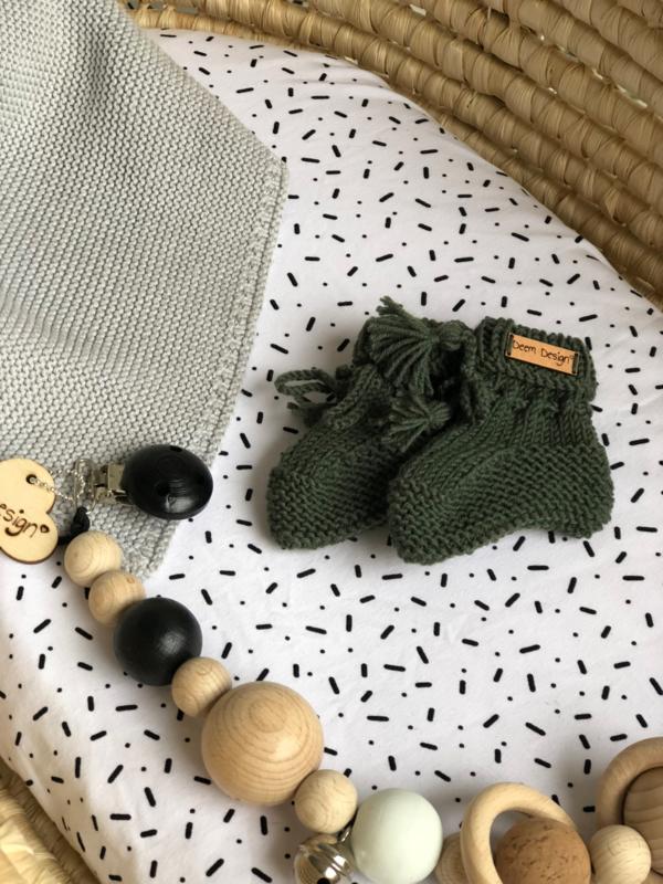 Deem Design slofjes army green