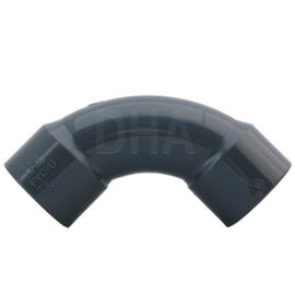 PVC bocht 90 graden 25 mm